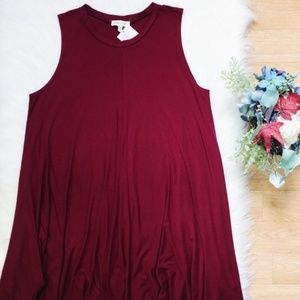 Urban Outfitters Deep Red Mini Dress